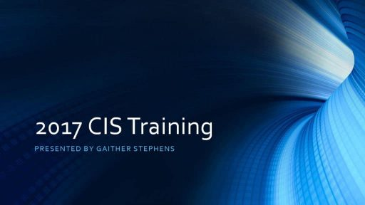 thumbnail of 2017 CIS Training