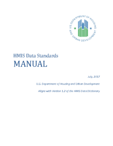 HUD Data Standards Manual