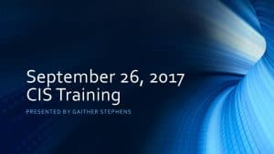 thumbnail of 2017-09-26 CIS Training Materials