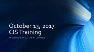 thumbnail of 2017-10-13 CIS Training Materials