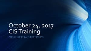 thumbnail of 2017-10-24 CIS Training Materials