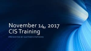 thumbnail of 2017-11-14 CIS Training Materials