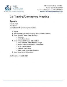 thumbnail of 2018-06-06 CIS Training Agenda