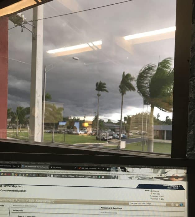 Stormy weather outside the Gulf Coast Partnership today!