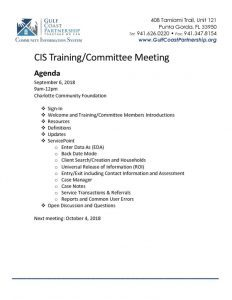 thumbnail of 2018-09-06 CIS Training Agenda