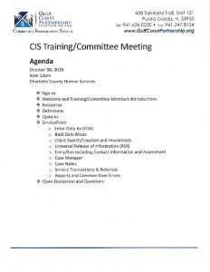 thumbnail of 2018-10-18 CIS Training Agenda