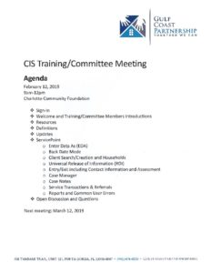 thumbnail of 2019-02-12 CIS Training Agenda
