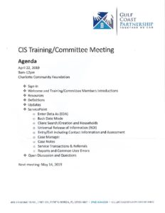 thumbnail of 2019-04-22 CIS Training Agenda