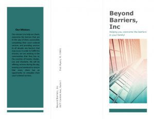 thumbnail of Brochure – Beyond Barriers