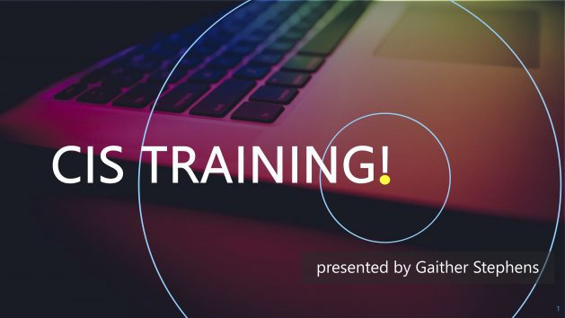 November 2019 CIS Training