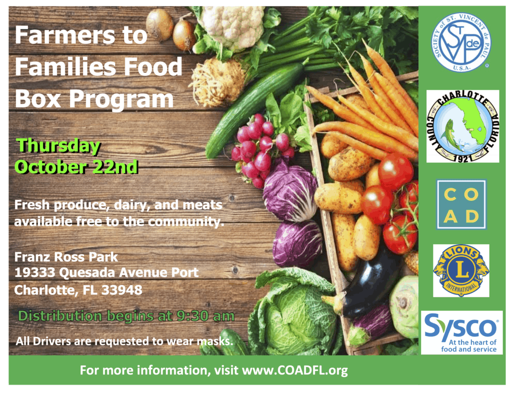 Farmers to Families Food Box Program October 22nd, 2020
