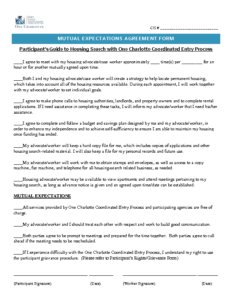 One Charlotte Mutual Agreement Form