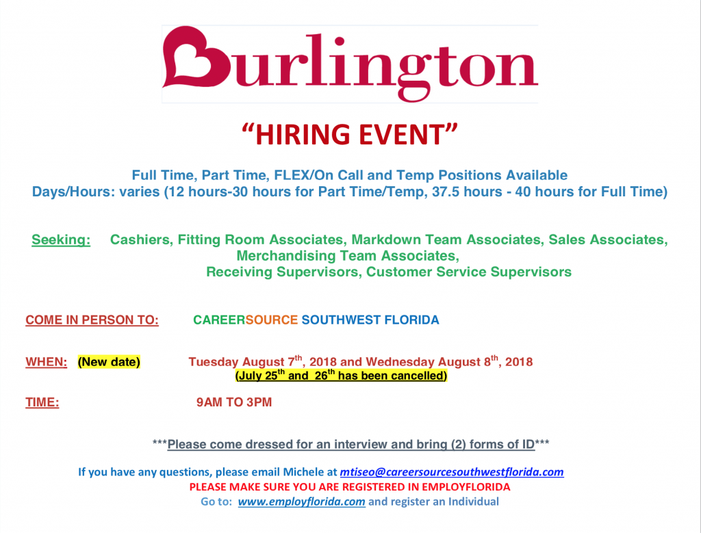 GCP Focus – Burlington Hiring Event