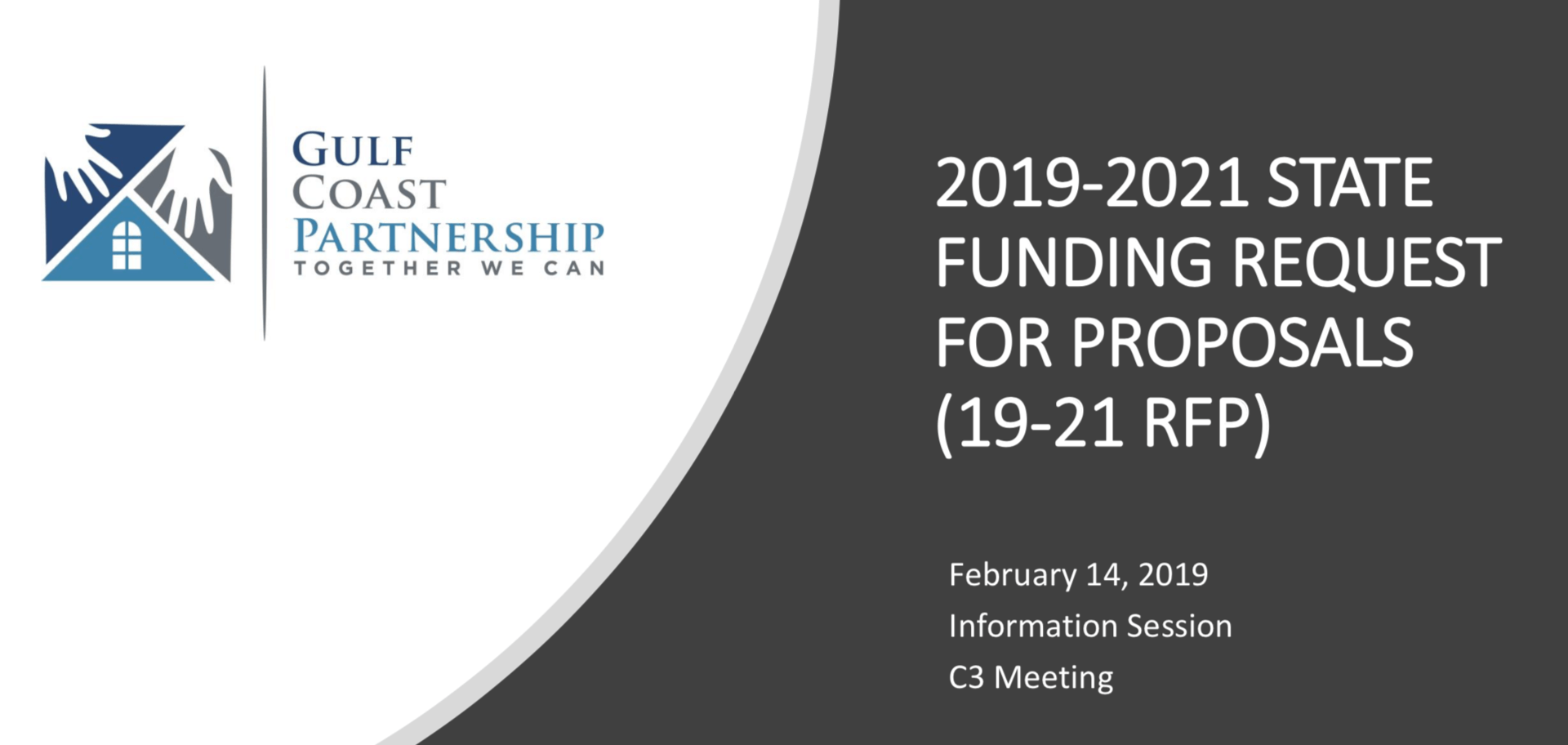 2019-2021 STATE FUNDING REQUEST FOR PROPOSALS (19-21 RFP) - Gulf