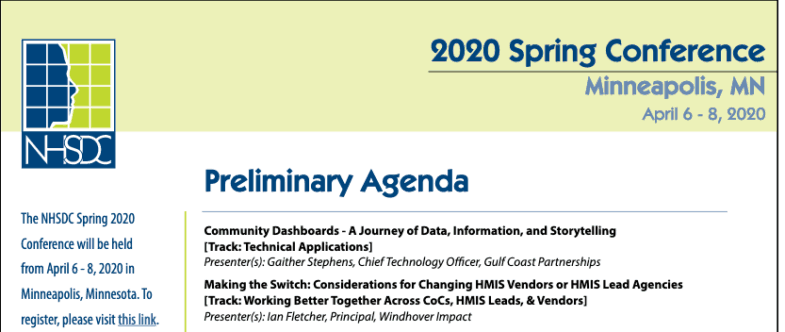 Gulf Coast Partnership's Gaither Stephens to Present at NHSDC Conference Spring 2020!